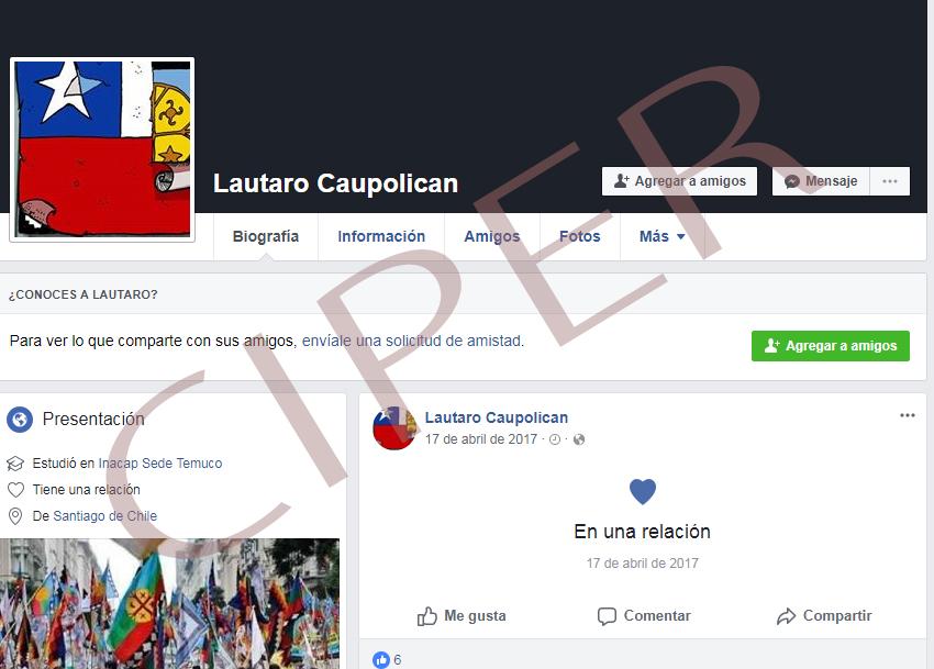 Facebook falso creado por la UIOE