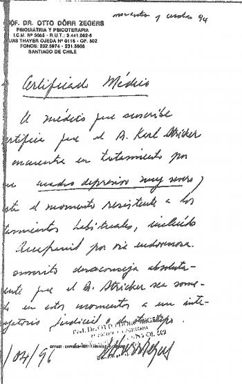 1996_04 Certificado Medico Otto Dörr por Karl Stricker