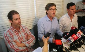 Juan Carlos Cruz, James Hamilton y José Andrés Murillo