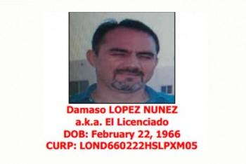 """Dámaso López, """"El Licenciado"""", según documento de la DEA."""