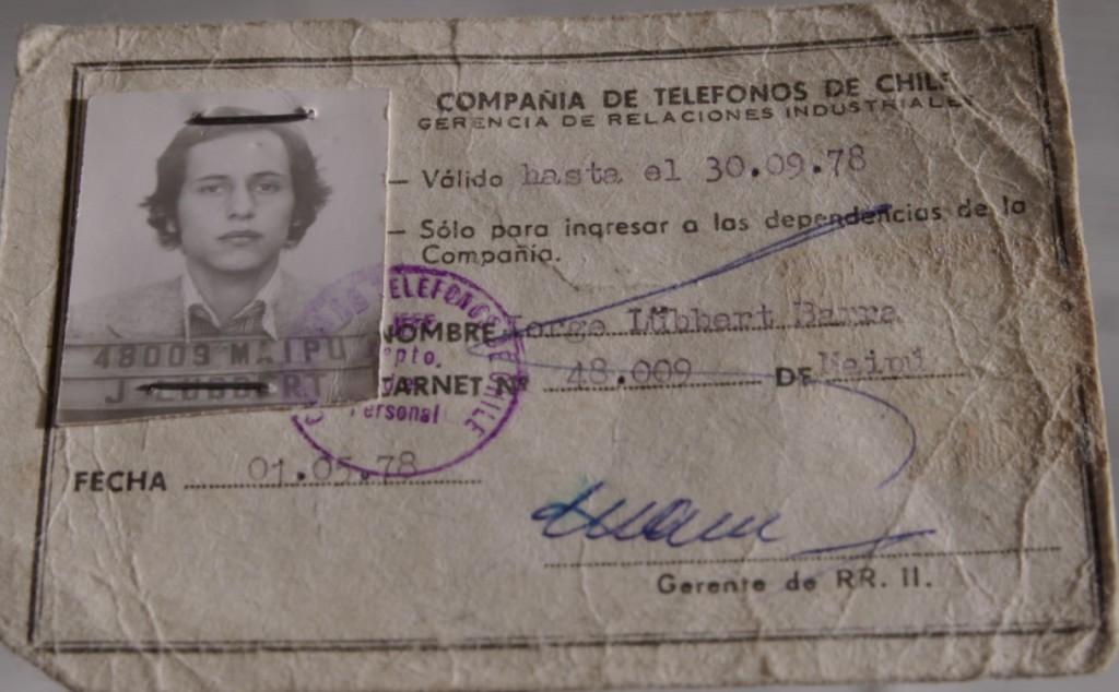 Credencial de Jorge Lübbert en la CTC
