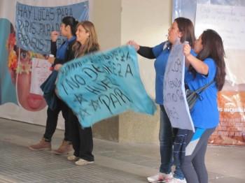 Las huelguistas de Paris Tobalaba