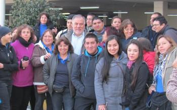 Diputado Osvaldo Andrade visitó a los trabajadores en paro.