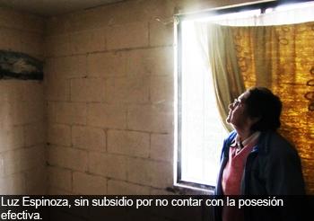 Gobierno promociona como �viviendas terminadas� casas que a�n tienen da�os