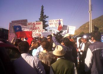 Marcha por la defensa del agua en Petorca (Fuente: Modatima).