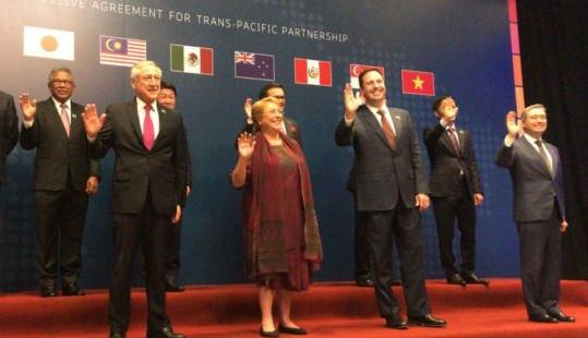 Presidenta Bachelet en la ceremonia de firma del TPP-11