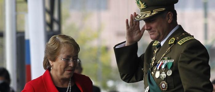 Michelle Bachelet y Bruno Villalobos