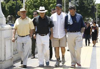 Pedro Pablo Díaz, Sebastián Piñera, Carlos Alberto Délano y Juan Bilbao