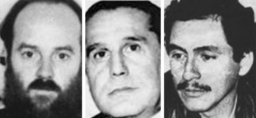José Manuel Parada, Santiago Nattino y Manuel Guerrero