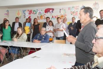 Rayen Inglés y Rubén Valenzuela en un evento en el hogar Cordillera (Fuente: Senama.cl)