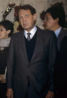 Harry Barnes durante el funeral de Rodrigo Rojas (Fuente: casovicaria.cl)