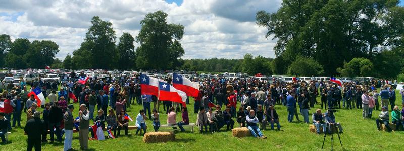 Manifestación de la Multigremial de La Araucanía. La misma organización que ha solicitado que se aplique estado de excepción en la zona