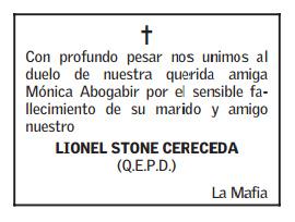 Obituario de El Mercurio 8-10-2014