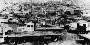 Camiones en paro en octubre 1972 (Fuente: carlosgaton.blogspot.com)