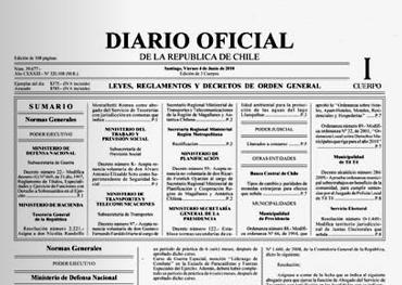 La Moneda decide llevar el Diario Oficial a Internet y corta el ...