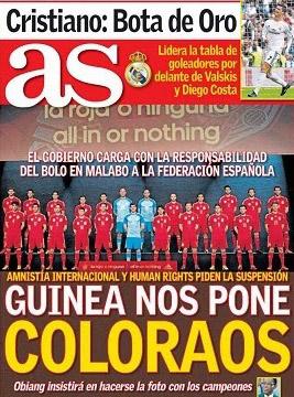 Portada del AS de España, 14 de noviembre de 2013.