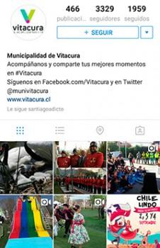 Cuenta de Vitacura en Instagram