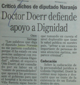 1994_12_26 La Epoca - Doctor Doerr defiende apoyo a Dignidad
