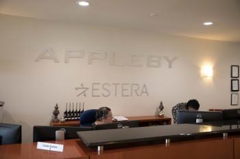 Oficinas de Appleby en Bermudas (Foto: Hidefumi Nogami, reportero del Asahi Shimbun, Japón)
