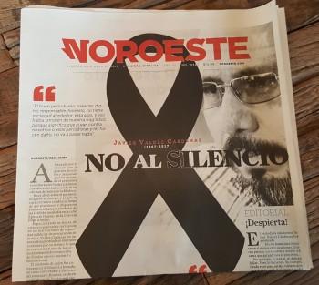 Portada del diario Noroeste de México.