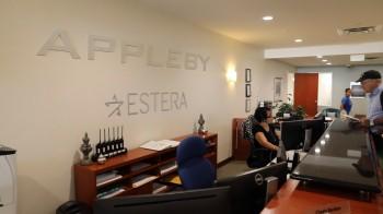 Oficinas de Appleby en Bermudas (Foto: Hidefumi Nogami, del Asahi Shimbun, Japón)