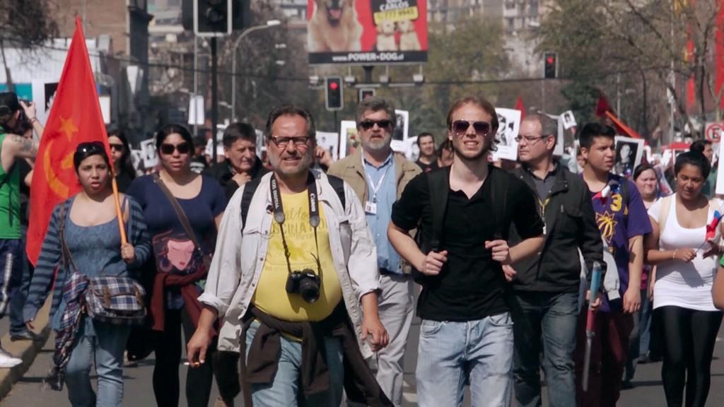 Jorge y Andrés Lübbert durante uno de sus viajes a Chile