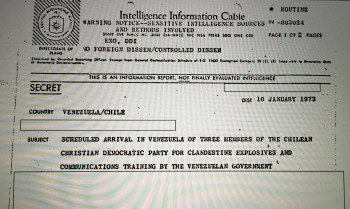 Cable desclasificado de la CIA