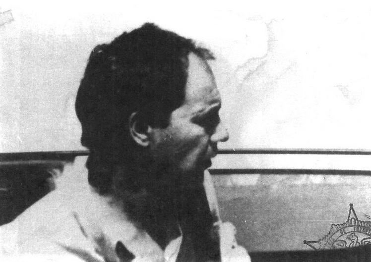 """Mauricio Hernández Norambuena, """"comandante Ramiro"""" del FPMR. Encabezó el secuestro. Aquí fotografiado cuando era seguido por Investigaciones mientras Edwards permanecía cautivo. Crédito: Libro """"Razón de Estado"""", de Barraza, Cocq y Ruiz."""