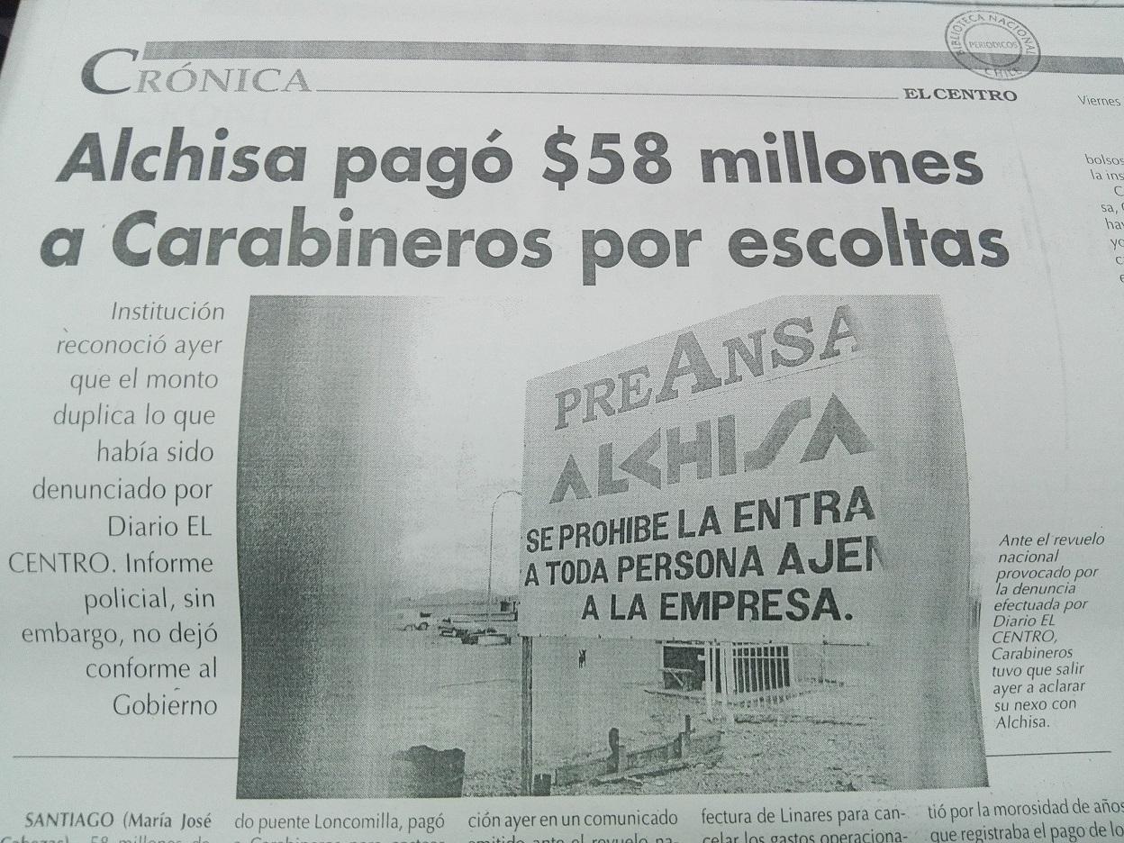 Edición de el diario El Centro del 29 de abril de 2005