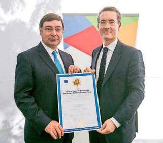 Alcalde Guevara recibe reconocimiento de ESERP