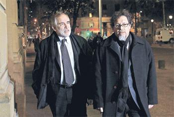Senadores Carlos Montes y Ricardo Lagos Weber