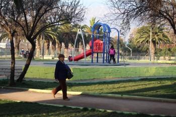 Plaza inaugurada por el alcalde Aguilera durante su mandato