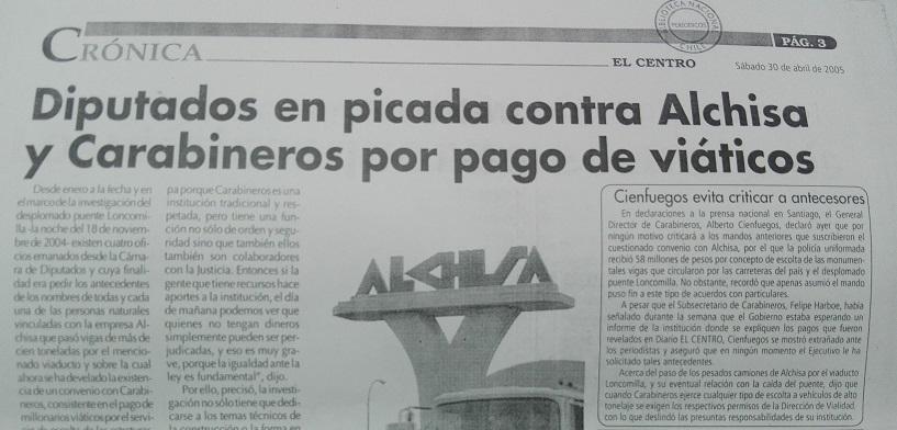 Edición de El Centro del 30 de abril de 2005