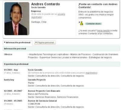 Andrés Contardo en XING