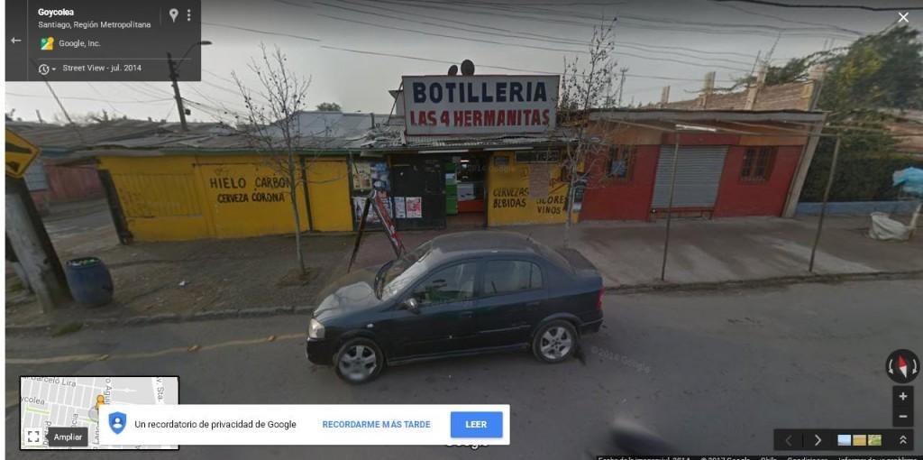 Botillería de Goycolea con Pedro Lagos (Fuente: Google street view)