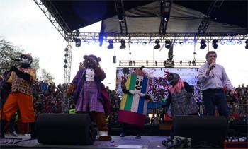 Cachureos durante la Fiesta de la Nueva Chilenidad 2014