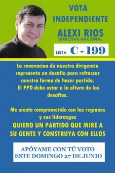 Alexi Ríos, militante PPD y socio de Cristián Riquelme