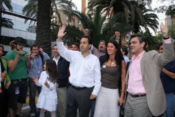 Pablo Zalaquett, Coca de Castro y Pablo Longueira