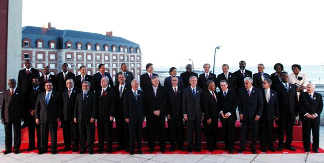 Foto Oficial de la última Cumbre de las Américas realizada en Mar del Plata, Argentina