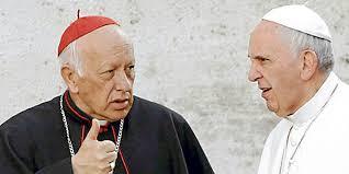 Cardenal Ricardo Ezzati junto al Papa Francisco