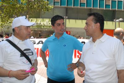 Roberto Valenzuela (Falabella), Cristian Cea (Paris) y Horacio Bastías (Ripley)