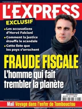 Portada de L'Express (Francia) con reportaje sobre denuncias de Falciani por fraude fiscal internacional.