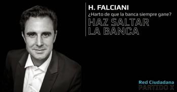 Imagen de la campaña de Hervé Falciani para lograr un escaño en el Parlamento Europeo como candidato por el nuevo Partido X (Red Ciudadana) de España.