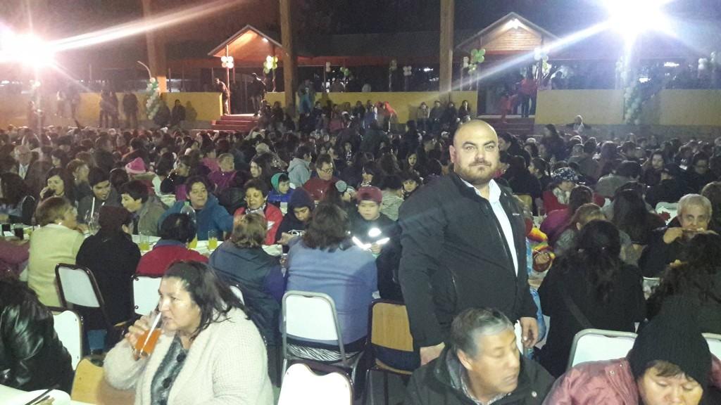 Pedro Jaque, asesor de Aguilera, durante una cena a la que invitó el alcalde