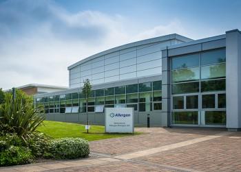 Edificio corporativo de Allergan en Liverpool, Inglaterra (Fuente: allergan.co.uk)