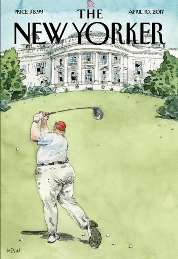 Portada de la revista tras la llegada de Trump a la Casa Blanca. Según el autor representa su inexperiencia en el manejo de la política.