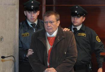 Guillermo Arenas, durante la formalización