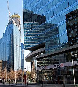 Antigua sucursal de HSBC en Santiago.