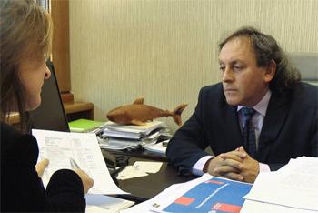 """Ivan Fuentes durante la entrevista a """"Informe Especial"""""""