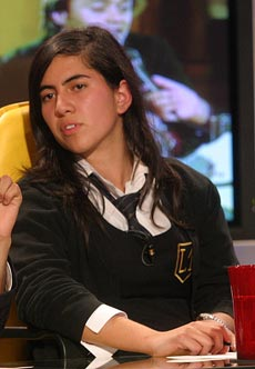 Karina Delfino, dirigente estudiantil